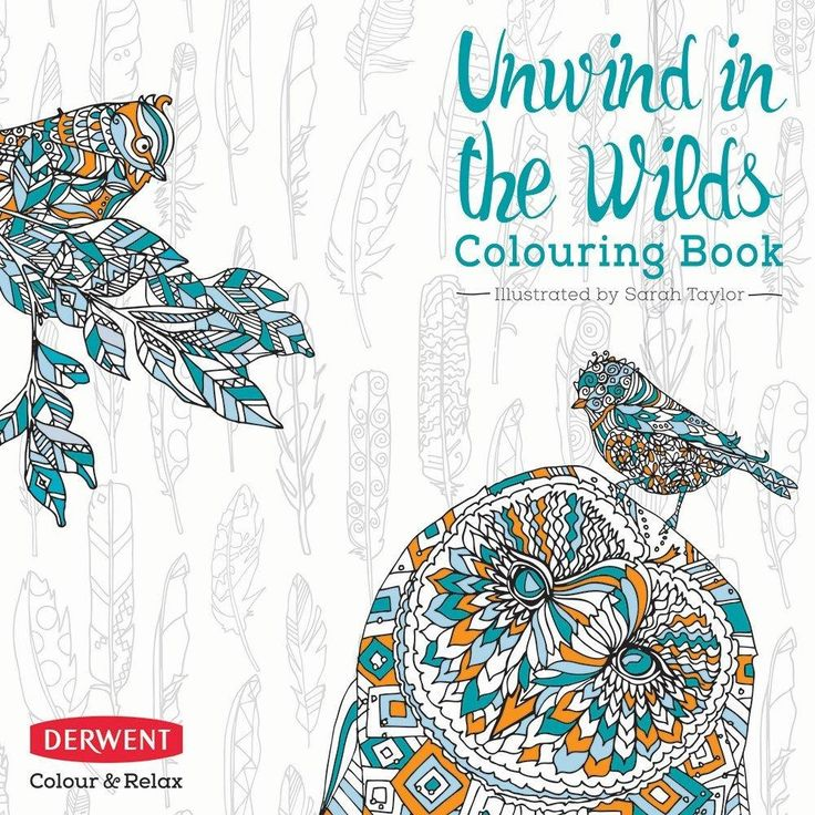 Unwind In The Wilds A Derwent Coloring Book For Adults