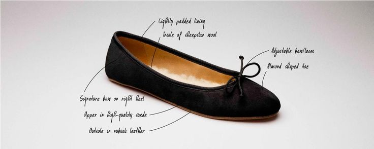 The Flattered ballerina shoe