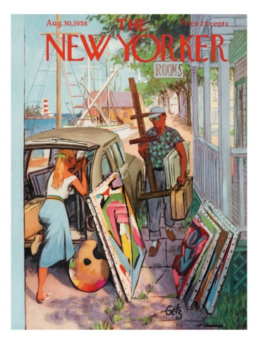 The New Yorker Cover - August 30, 1958  by Arthur Getz  ~Repinned Via Dianne Snider