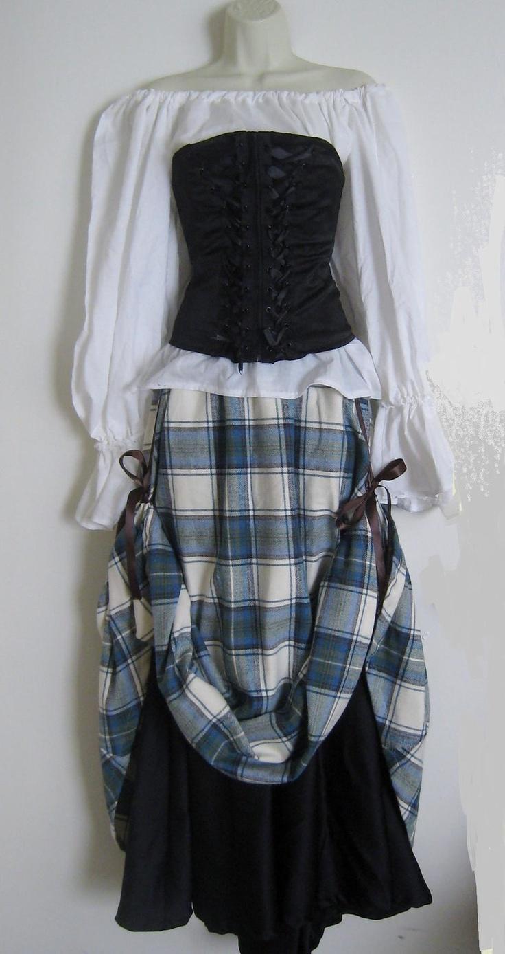Renaissance Fair Lady Costume Made to Order. $150.00, via Etsy.