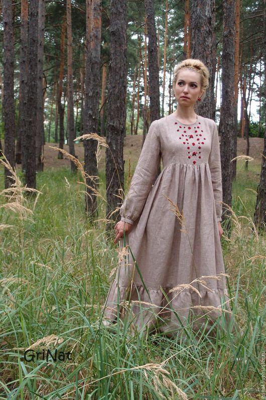 """Платья ручной работы. Ярмарка Мастеров - ручная работа. Купить Платье""""Вишня в шоколаде"""". Handmade. Белый, платье длинное, наталия гришаева"""