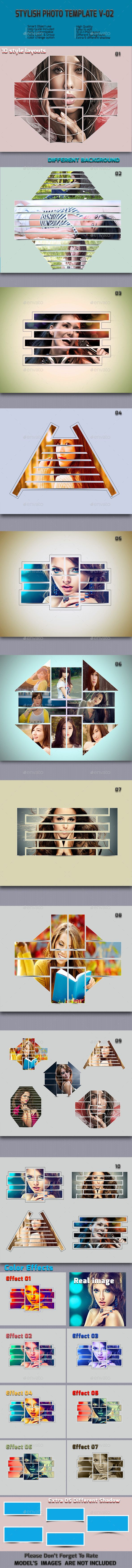 Stylish Photo  Frame Templates V-02