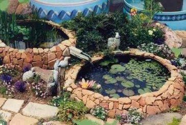 Tractor Tire Fish Pond Is Perfect For Your Garden