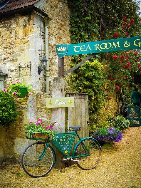 Tea Room in Lacock National Trust Village, Bath, England  photo by Kim Stillwell