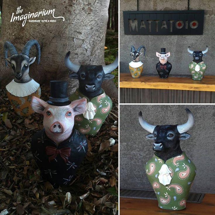"""38 """"Μου αρέσει!"""", 3 σχόλια - The Imaginarium (@theimaginariumkos) στο Instagram: """"""""Custom-made,paper mache sculptures""""#handmade #handmadeart #paperclay #papermache #goat #pig…"""""""
