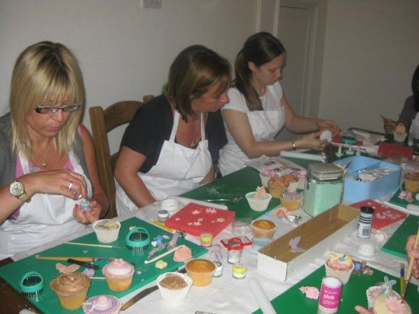 Fun at a cupcake decorating class with The Charming Cupcake Company