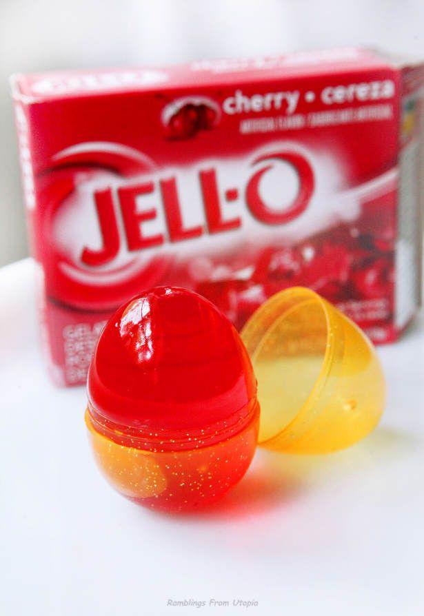 use Easter eggs to make jello eggs