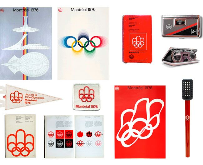 Montréal 1976 Olympic identity Mara Gourd-Mercado of Montréal-based lg2boutique.