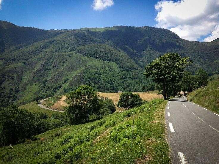 View from the Col d'Aspin descent.