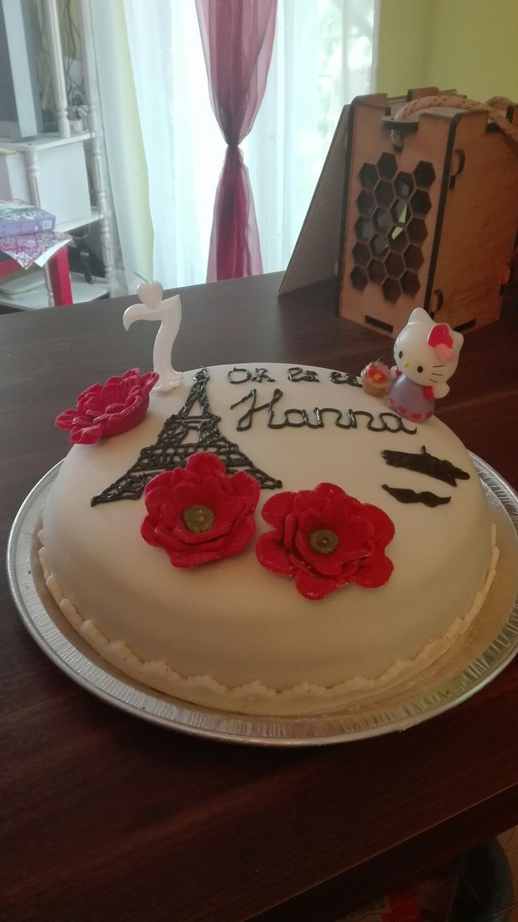 For my daughter's birthday Paris cake