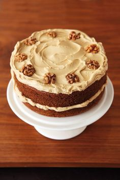 Coffee and Walnut Layer Cake, make GF - Mary Berry