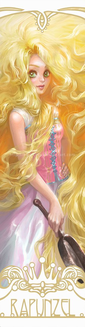 Disney+Princesses+Bookmarks:+Rapunzel+by+hart-coco.deviantart.com+on+@deviantART