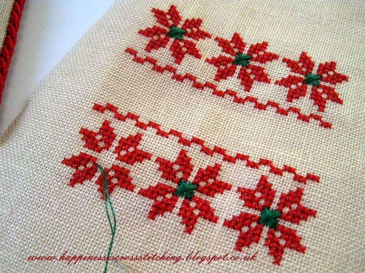 Happiness is Cross Stitching : Flat fold Christmas ornament and ...