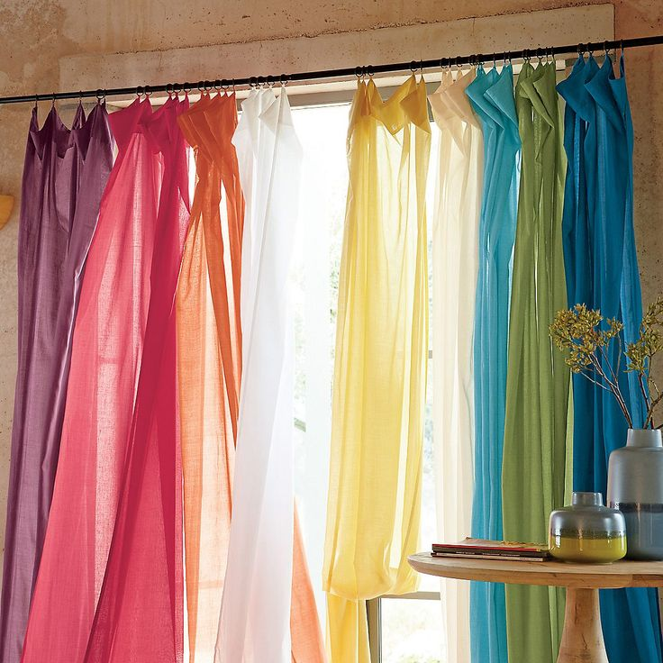 Love these for playrooms, coverage for windows but, still fun and airy!