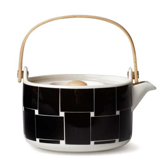 Basket Teapot 7DL in black,white – Bolt of Cloth
