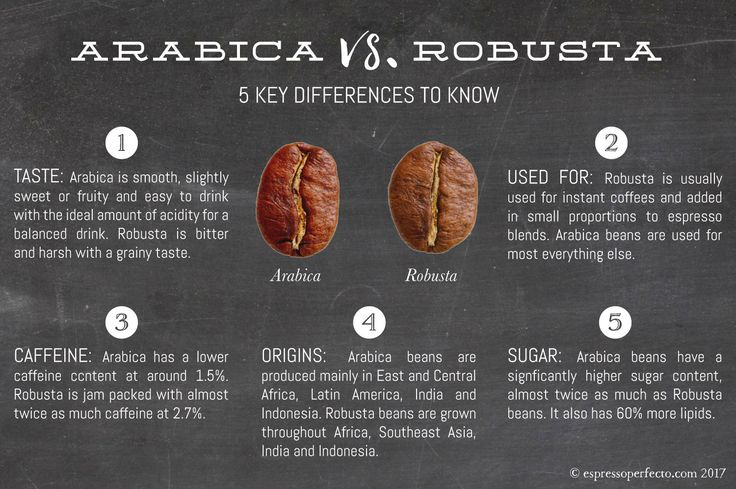 Great article detailing the difference between Arabica and Robusta coffee beans, who would have known?!