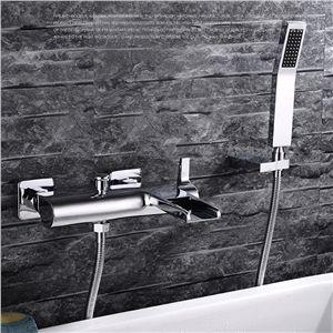 Moderne Duscharmatur Einhand Chrom Aufputz Wandmontage