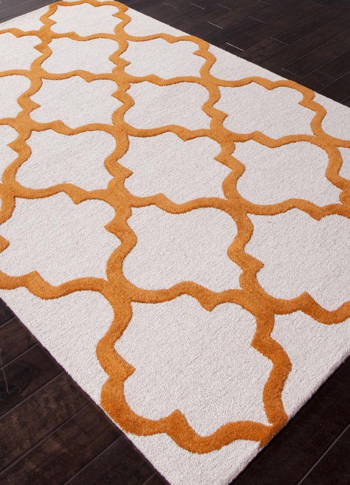 Tudor Window Grill Plush Wool Rug   Loving The Pop Of Orange