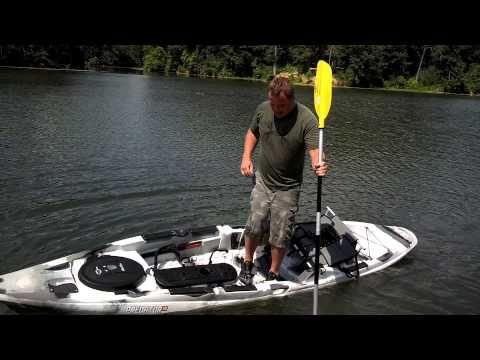 ▶ Old Town Predator Stand Up Fishing Kayak: LIVE DEMO! - YouTube