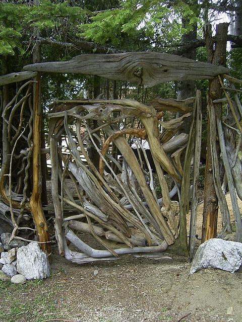 Driftwood Gate By Vincent C Richel Via Flickr