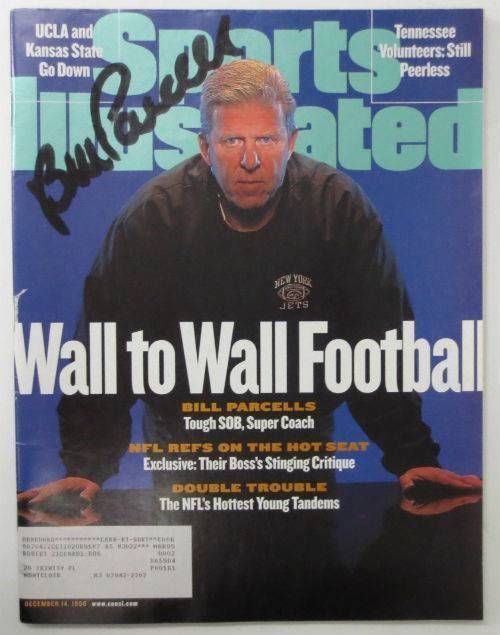 Bill Parcells NFL Signed December 14, 1998 Sports Illustrated Magazine JSA
