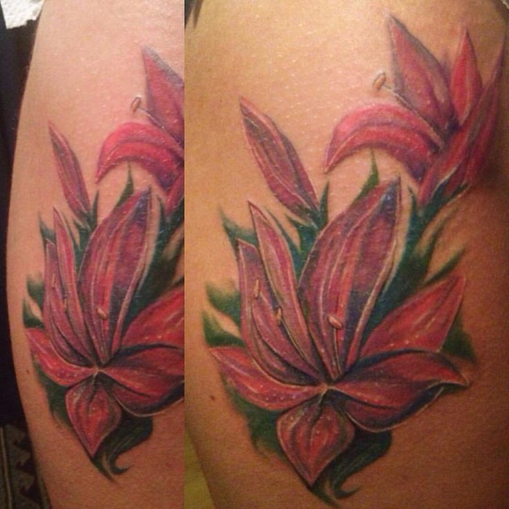 Orchid tattoo by Hana Lavinia #tattoo #flower #ink #colors