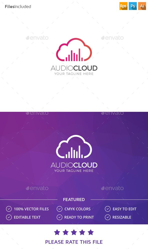 Cloud Logo — Photoshop PSD #digital #music • Available here → https://graphicriver.net/item/cloud-logo/15354309?ref=pxcr