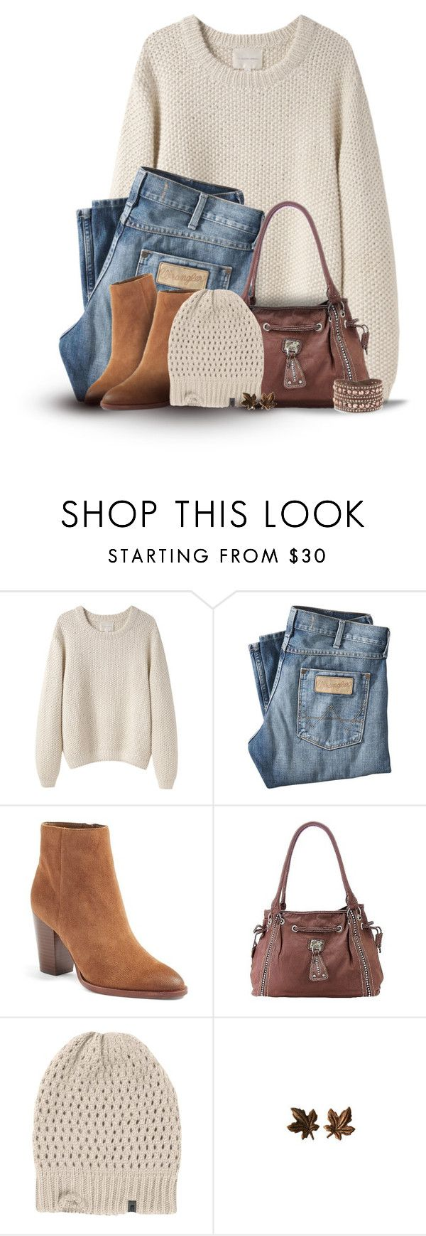 """Neutral for Fall"" by cindycook10 ❤ liked on Polyvore featuring La Garçonne Moderne, Wrangler, Sam Edelman, The North Face and Swarovski"