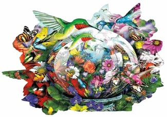 Hummingbird Reflections Shaped Jigsaw Puzzle It S All