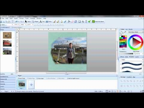 Serif Craft Artist Professional - Blending photos into your background layer - YouTube