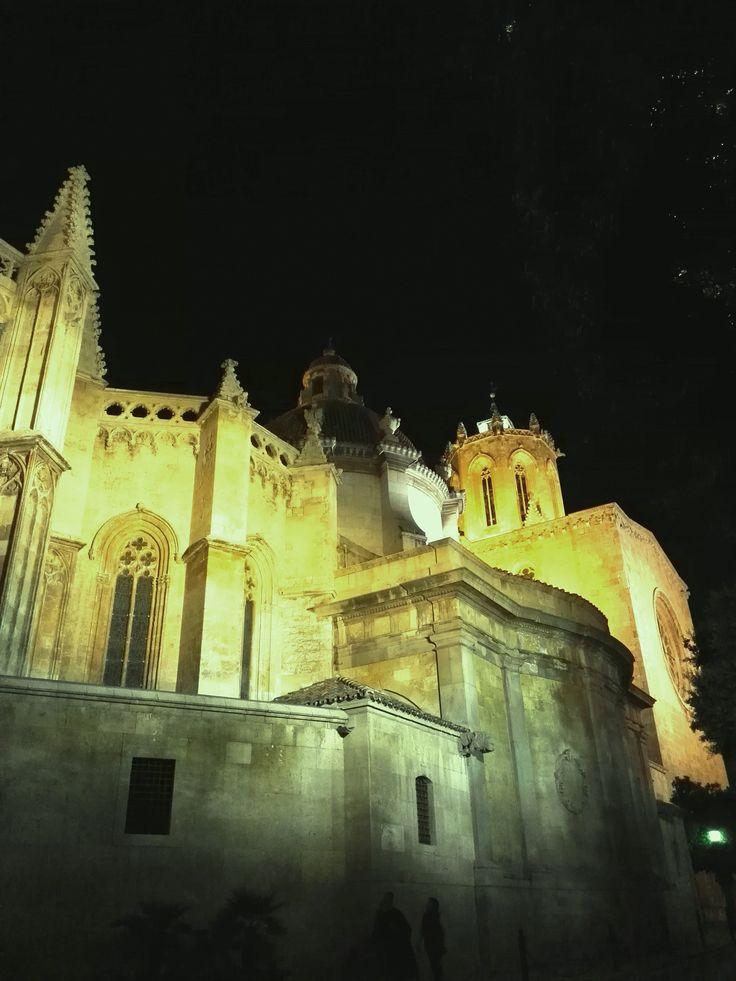 Lateral de la catedral de Santa Tecla de Tarragona. Side of the cathedral of Santa Tecla de Tarragona.