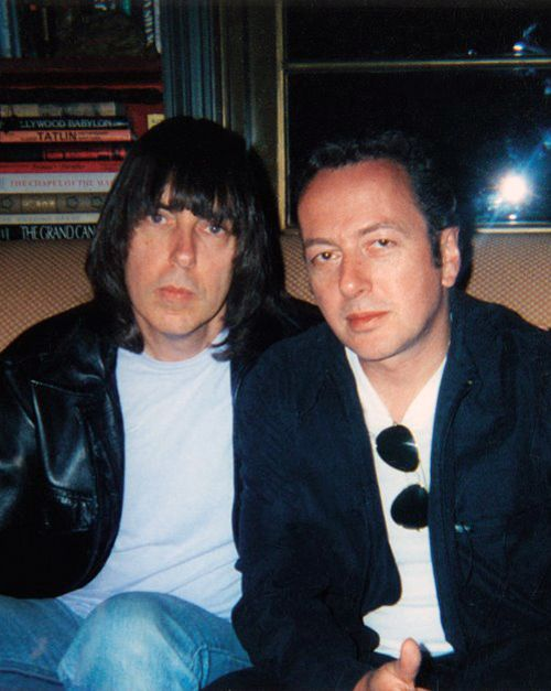 Joe Strummer (The Clash) and Johnny Ramone (The Ramones) - another photo, but color photo