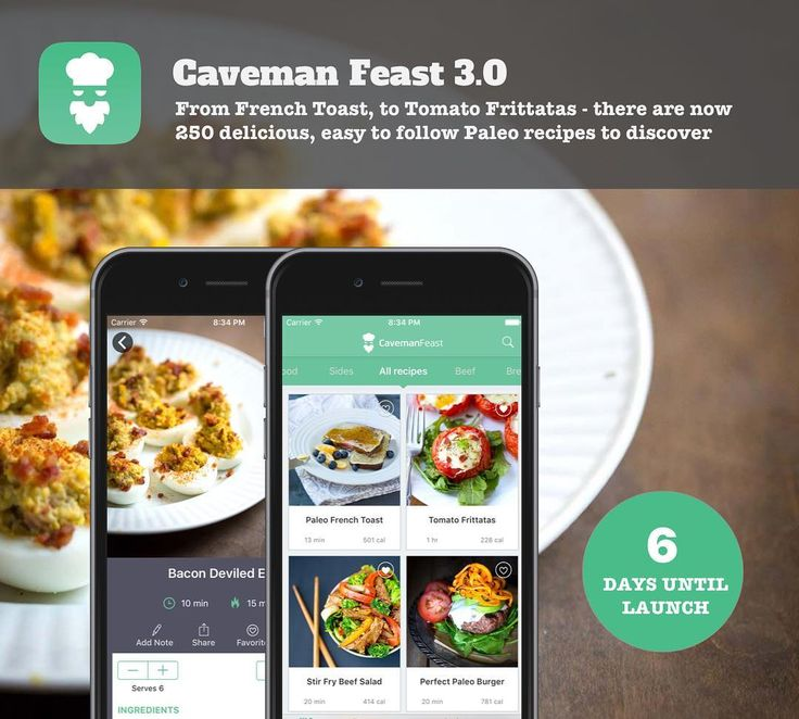 We're stoked to announce our most powerful cooking app yet Caveman Feast launching in 6 days on iOS! When we first launched in 2013 this app hit #1 in Food and Drink and #6 in the App Store with more than 1200 5-Star reviews. Now we're upping the ante with 50 new recipes macro tracking health and Apple Watch integration and much more. Stay tuned - we're giving away a ton of sneak peek app downloads in the blog and #fatburningman newsletter! @civilizedcaveman @andreaskambanis…