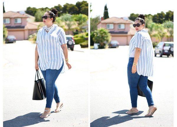 Skinny Jeans kombinieren kräftige Oberschenkel