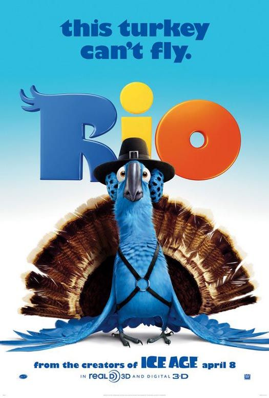 "disney movie posters | Thanksgiving-Themed ""Rio"" Movie Poster 