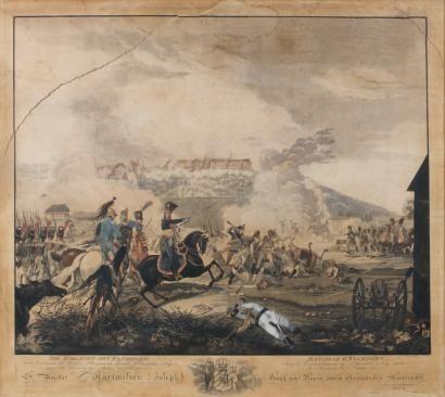 Battle of Elchingen under the command of Marec VOLZ Johann (1784-1858)
