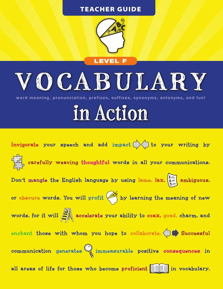 Vocabulary in Action Level F Vocabulary in Action gives students the boost they…