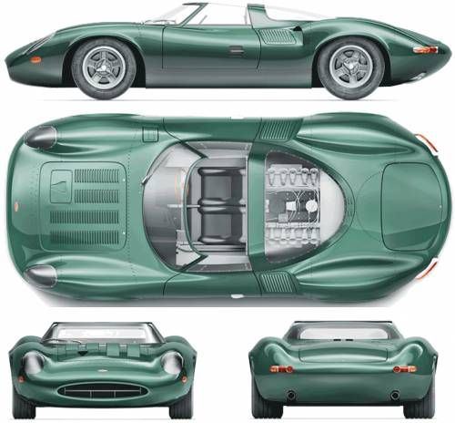 The 1966 Jaguar XJ13 to this day, the lone XJ13 (there was only ever 1 built) remains one of the most stunning racing cars ever (and never) produced.