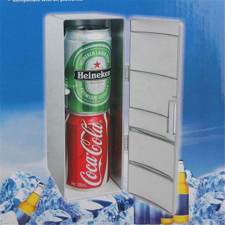 Portable Mini Fridge Beverage Drink Cans Cooler/Warmer Fridge Refrigerator
