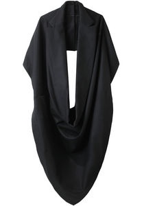 I don't even know what to call this. It's a cowl or a poncho or a scarf. But it's black and it has lapels and it's awesome.
