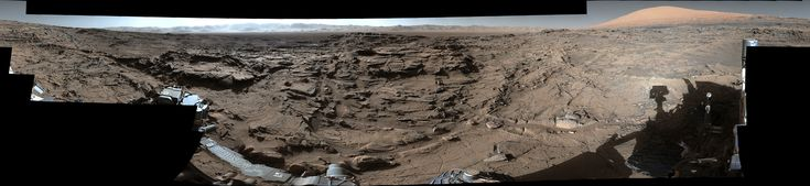 This mid-afternoon, 360-degree panorama was acquired by the Mast Camera (Mastcam) on NASA's Curiosity Mars rover on April 4, 2016, as part of long-term campaign to document the context and details of the geology and landforms along Curiosity's traverse since landing in August 2012.