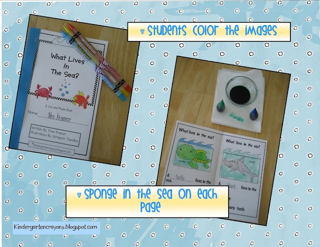 Kindergarten Crayons: Do you know this trick? watercolor with sponge