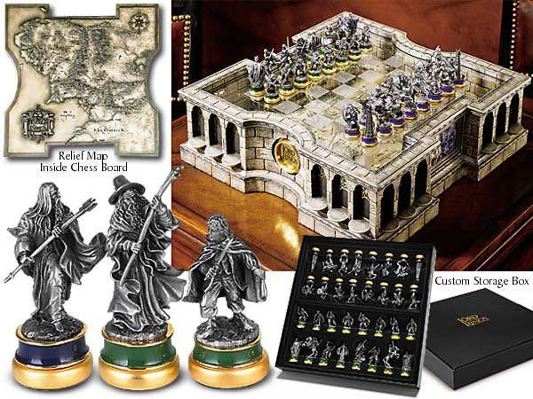 Der Herr der Ringe Schach Set - Lord of the rings - Schachbrett