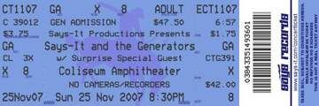 OMG, this site allows you to choose a concert ticket style  and add your own info.  Then you can print out a personalized ticket.  This could have a lot of creative uses and would be great for invitations.