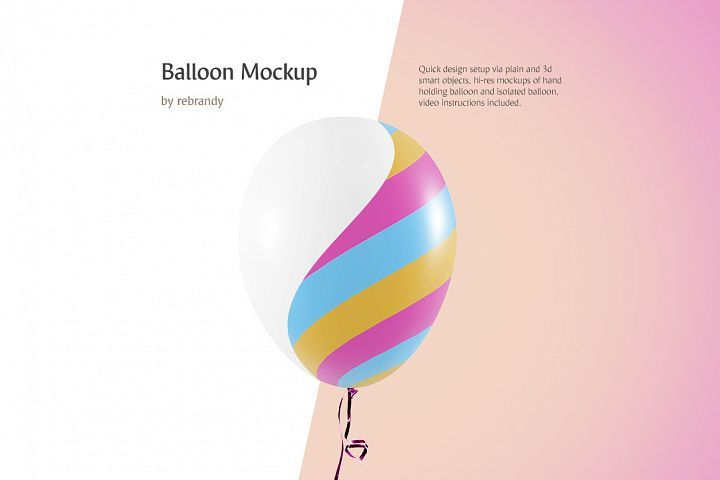 Balloon Mockup 7851 Products Design Bundles In 2021 Psd Mockup Template Design Mockup Free Free Psd Mockups Templates