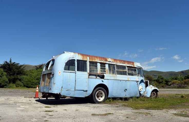 https://flic.kr/p/ZvsGCT   My favourite rusty blue bus   Christchurch, New Zealand