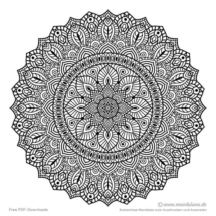 Mandala Malvorlagen - Schwierige Mandalas zum ausmalen