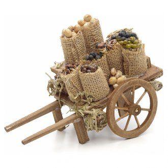 Carreta con frutas secas pesebre Nápoles | venta online en HOLYART