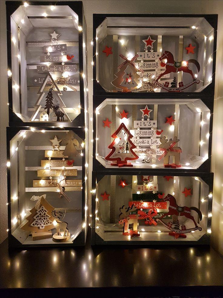Doe het zelf voor de kerst: kistje, lampjes en andere leuke frutsels.