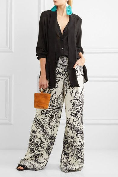 Etro | Pussy-bow ruffled silk-chiffon blouse | NET-A-PORTER.COM